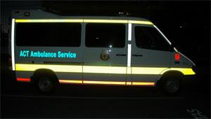 ACT Intensive Care Ambulance reflective livery-www.ambulancevisibility.com-John Killeen