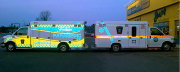 Fronten ambulance reflective