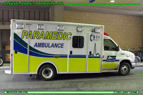 Muskoka EMS New markings Ambulance Visibility www.ambulancevisibility.com