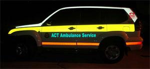 Reflective Markings Prado-www.ambulancevisibility.com-ACT Ambulance-John Killeen